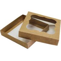 Коробка (155 x 155 x 30), крафт, подарочная