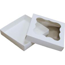 Коробка (155 х 155 х 30), белая, для зефира