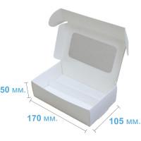 Коробка (170 x 105 х 50), белая,  с ложементом, для макаронс