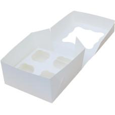 Коробка (170 х 170 х 90), белая, на 4 кекса