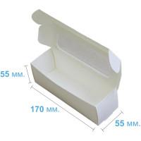 Коробка (170 x 55 х 55), белая, для макаронс