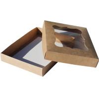 Коробка (200 x 150 x 30), крафт, подарочная