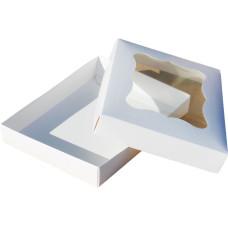 Коробка (200 х 150 х 30), белая, для зефира