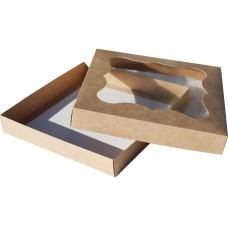 Коробка (200 x 200 x 30), крафт, подарочная