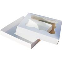 Коробка (200 х 200 х 30), белая, для зефира