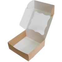 Коробка (200 x 200 x 70), крафт, подарочная