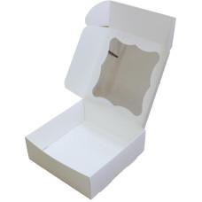 Коробка (200 х 200 х 70), белая, для зефира