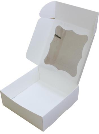 Коробка (200 x 200 x 70), белая, подарочная