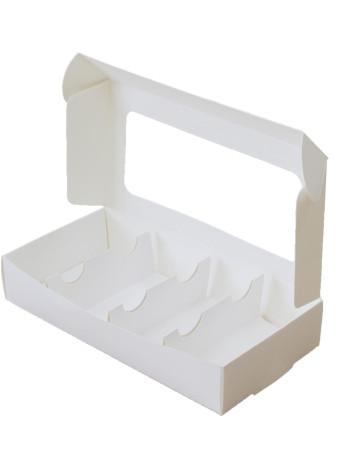 Коробка (220 x 110 х 40), белая, для эклеров