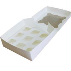 Коробка (260 х 260 х 90), белая, на 9 кексов
