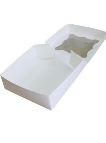 Коробка (260 x 260 x 90), белая, подарочная