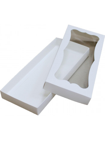 Коробка (280 x 120 x 30), белая, подарочная