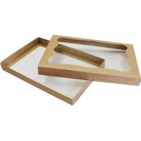Коробка (300 x 200 x 30), крафт, подарочная