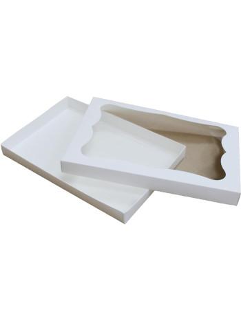 Коробка (300 x 200 x 30), белая, подарочная