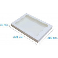 Коробка (300 х 200 х 30), белая, для пряников
