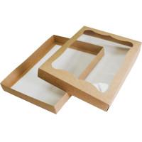 Коробка (320 x 240 x 40), крафт, подарочная