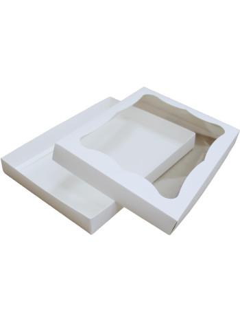 Коробка (320 x 240 x 40), белая, подарочная