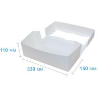 Коробка (330 x 150 х 110), белая, для рулетов