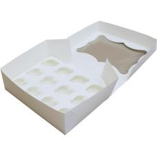 Коробка (330 х 255 х 110), белая, на 12 кексов