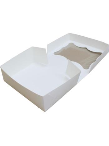 Коробка (330 x 255 x 110), белая, подарочная