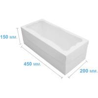 Коробка (450 x 200 х 150), белая, для рулетов