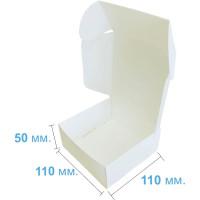 Коробка (110 x 110 x 50), белая, подарочная