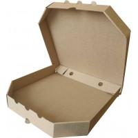 Коробка (250 х 250 х 37), для пиццы, бурая