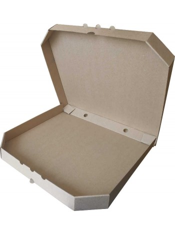 Коробка (400 х 400 х 37), для пиццы, бурая