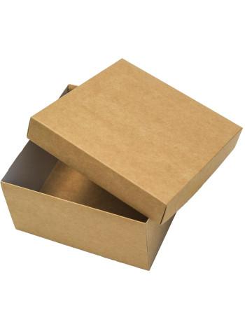 Коробка (140 х 140 х 70), подарочная, крафт