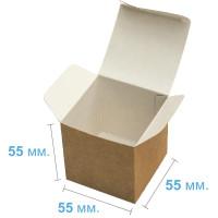 Коробка (055 х 55 х 55), подарочная, крафт