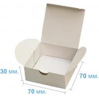 Коробка (070 х 70 х 30), подарочная, белая
