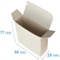 Коробка (080 х 28 х 77), подарочная, белая
