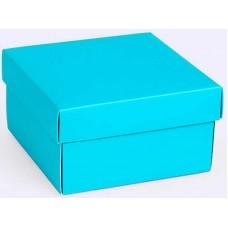Коробка (090 х 90 х 50), подарочная, голубая