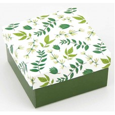 Коробка (090 х 90 х 50), подарочная, зеленая