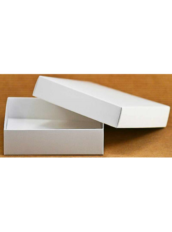 Коробка (090 х 90 х 25), подарочная, белая