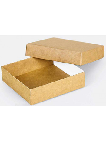 Коробка (090 х 90 х 25), подарочная, крафт