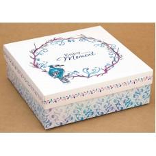 Коробка (180 х 180 х 60), подарочная, Enjoy every moment