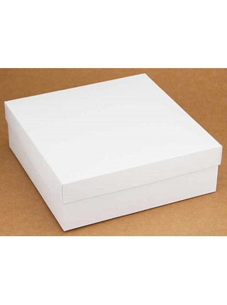 Коробка (180 х 180 х 60), подарочная, белая