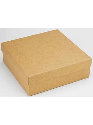 Коробка (180 х 180 х 60), подарочная, крафт