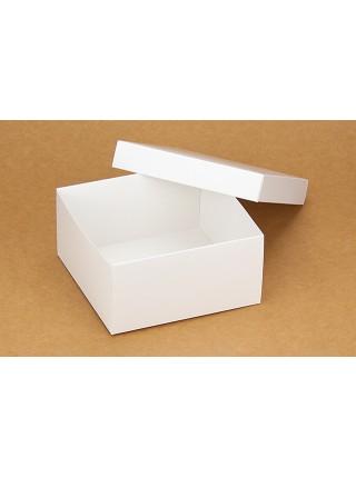 Коробка (140 х 140 х 70), подарочная, белая
