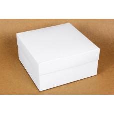 Коробка (200 х 200 х 100), подарочная, белая