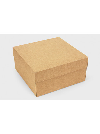 Коробка (200 х 200 х 100), подарочная, крафт