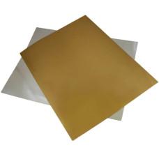 Подложка для торта квадратная (210х210 мм., золото / серебро)