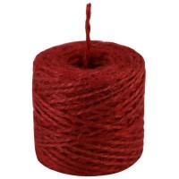 Шпагат джутовый красный, 45 метров/бобина
