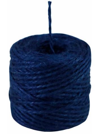 Шпагат джутовый синий, 45 метров/бобина