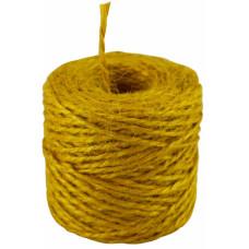 Шпагат джутовый желтый, 45 метров/бобина