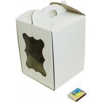 Коробка (170 х 170 х 220), белая, с окошком, для тортов