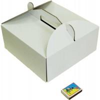Коробка (230 х 230 х 100), белая, для тортов