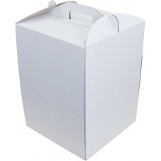 Коробка (300 х 300 х 400), белая, для тортов