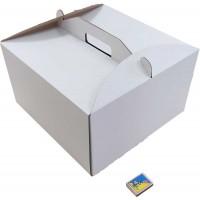 Коробка (350 х 350 х 200), белая, для тортов